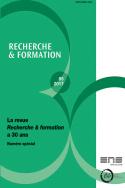 Couverture de l'ouvrage d'Anne Barrère et Cédric Frétigné